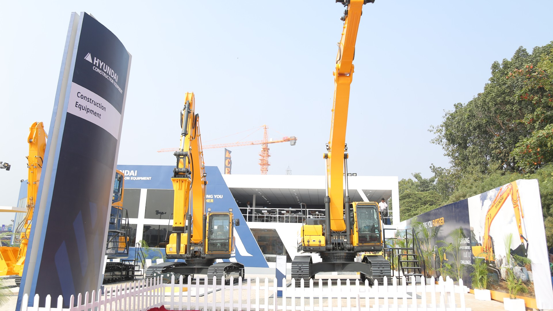 Hyundai Construction Equipment Stall at EXCON 2018